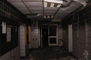 Ausgebrante Zentrale